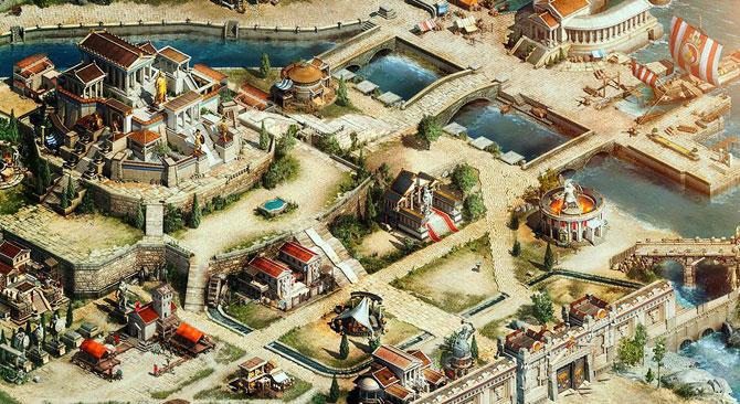widok miasta w sparta