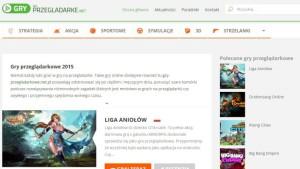 nowa odsłona strony z grami przeglądarkowymi grynaprzegladarke.net