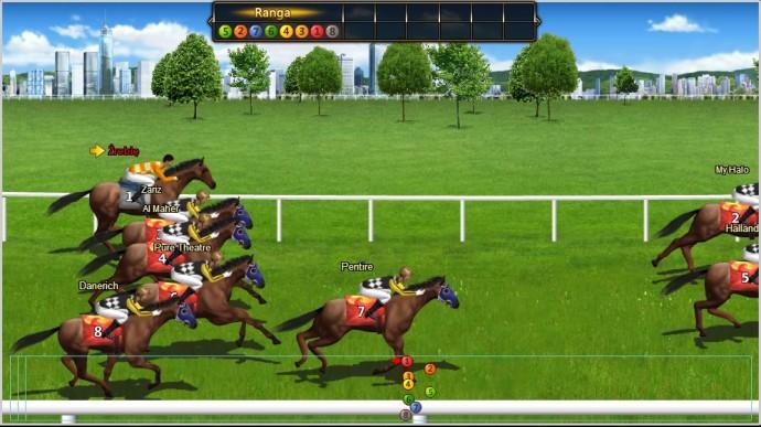 wyścig konny w darmowej grze o koniach