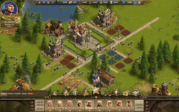 miasteczko w strategicznej grze przeglądarkowej settlers online