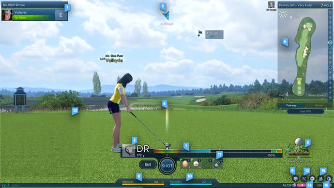uderzanie piłki na polu golfowym w grze winning putt