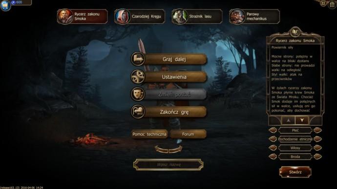wybór klasy postaci w drakensang online