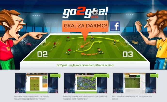 piłkarska gra przeglądarkowa go2goal