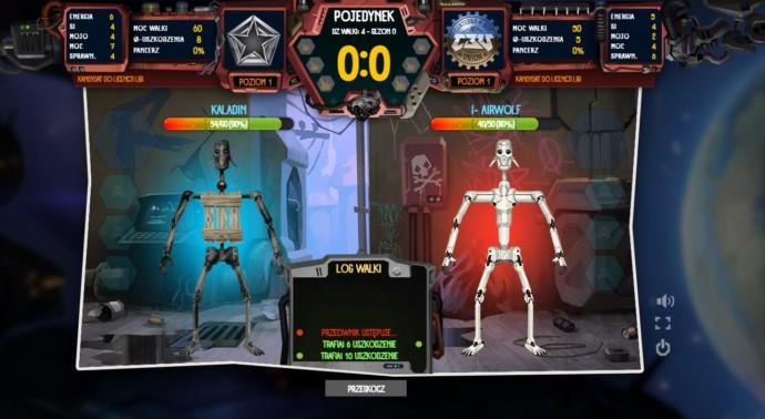walka pomiędzy robotami w grze eobomaniac
