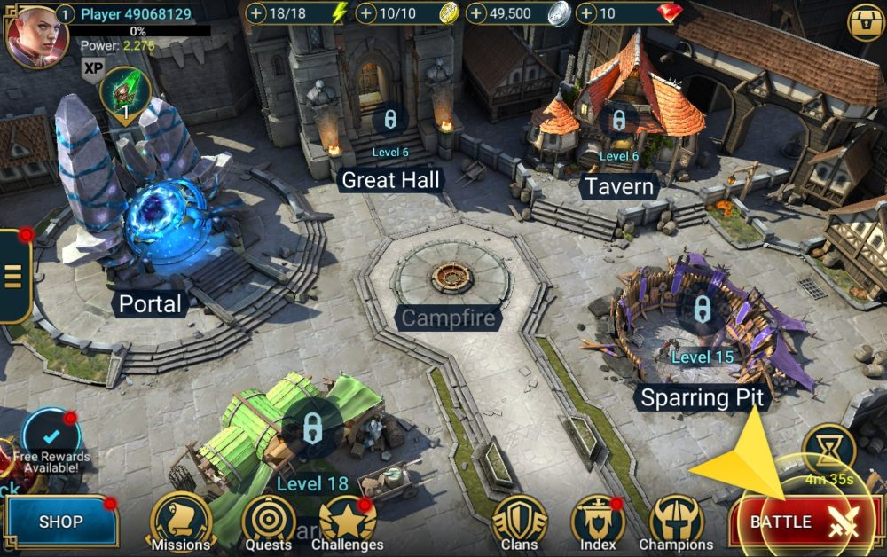 miasto w Raid: Shadow Legends