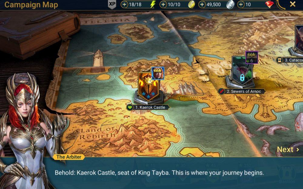 uwolnij krainę w Raid: Shadow Legends