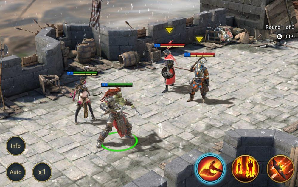 bitwa z dwoma przeciwnikami w Raid: Shadow Legends